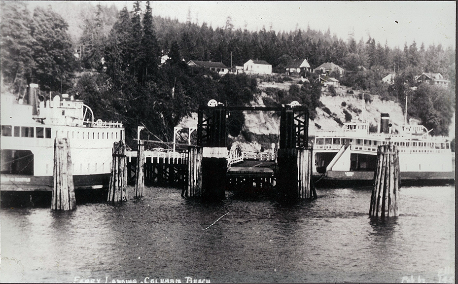 Ferry on right is the Leschi. Late 1950s.