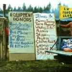 Donors who contributed to the success of one of the first work parties where heavy equipment was used.